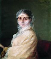 Portrait of the Artist's Wife, Anna Burnazyan 1882 By Ivan Aivazovsky