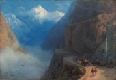 From Meta to Gudauri 1868 By Ivan Aivazovsky