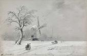 Winter in Ukraine 1874 By Ivan Aivazovsky