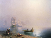 Morning in the Bay of Naples 1873 By Ivan Aivazovsky