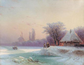 The Perils of Winter, Travel in the Russian Provinces 1869 By Ivan Aivazovsky