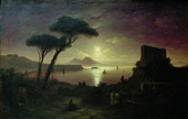 The Bay of Naples at Moonlight 1842 By Ivan Aivazovsky