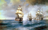 The Brig Mercury Attacked by two Turkish Ships 1892 By Ivan Aivazovsky