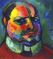 Self-Portrait 1912 -1 By Alexej von Jawlensky