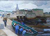 Fisherman in Concarneau Harbour 1927 By Jo Koster