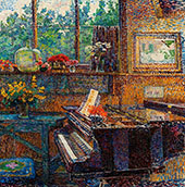 Interior with Piano 1916 By Jo Koster