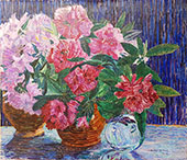 Rhododendron Branches in a Vase 1919 By Jo Koster