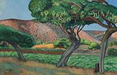 Carob Tree 1909 By Joaquim Sunyer