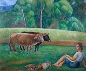 Figura I Vaques By Joaquim Sunyer