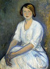 Hortensia 1909 By Joaquim Sunyer