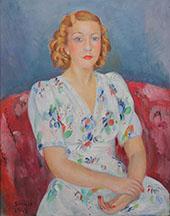 A Girl By Joaquim Sunyer