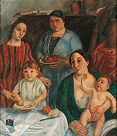 La Meva Familia By Joaquim Sunyer
