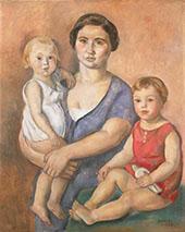 Maternite 1928 By Joaquim Sunyer