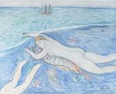 Nu la mar By Joaquim Sunyer