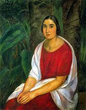 Retrato de Montserrat Gomis 1921 By Joaquim Sunyer