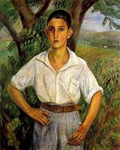 Retrato de Ricardo Gamis 1922 By Joaquim Sunyer