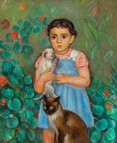The Girl of The Cats 1906 By Joaquim Sunyer