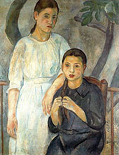 Two Sister By Joaquim Sunyer