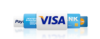 Accept Most Major Credit Cards and PayPal