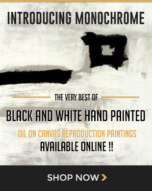 The very best of black and white hand painted oil on canvas reproduction paintings