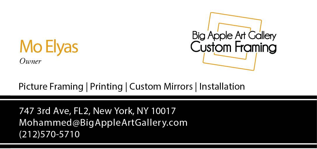 MYE - Big Apple Art Gallery Custom Framing