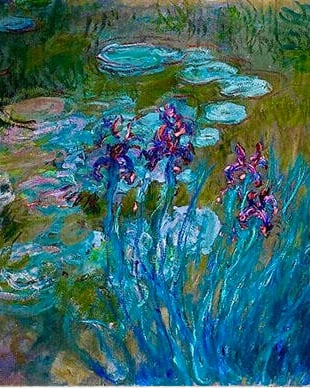 Claude Monet - Irises and Water Lilies 1917_823