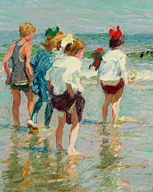 Summer Day Brighton Beach - Edward Henry Potthast