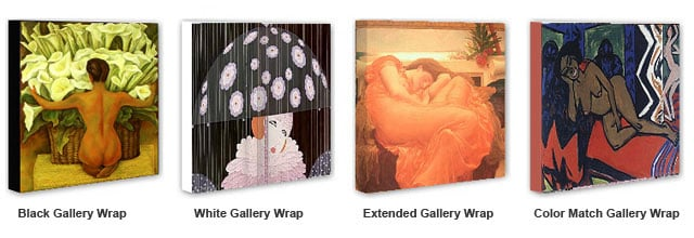 Gallery Wrap Option
