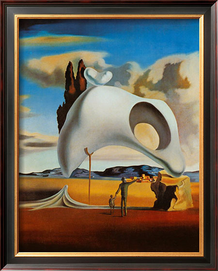 Atavistic Ruins after the Rain 1934 - <a href='https://www.reproduction-gallery.com/oil-painting/1198118600/atavistic-ruins-after-the-rain-1934-by-salvador-dali/'>More Detail</a>