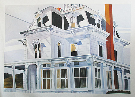 Talbot's House (Custom Oil Painting for house owner) - <a href='https://www.reproduction-gallery.com/artist/edward-hopper/?page=1&perpage=All'>More Detail</a>