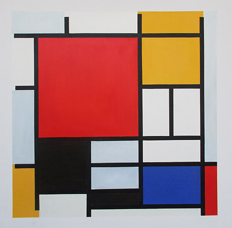Composition with Red, Yellow, Blue and Black, 1921 - <a href='https://www.reproduction-gallery.com/oil-painting/1044463682/composition-with-red-yellow-blue-and-black-1921-by-piet-mondrian/'>More Detail</a>