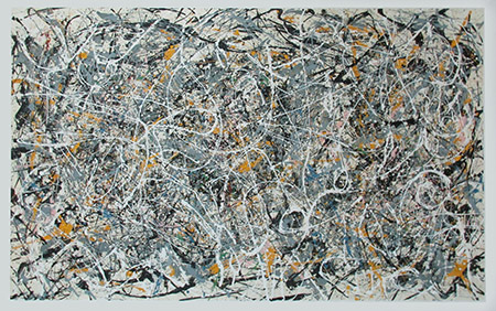 Number 1 1949 - <a href='https://www.reproduction-gallery.com/oil-painting/1441179508/number-1-1949-by-jackson-pollock/'>More Detail</a>