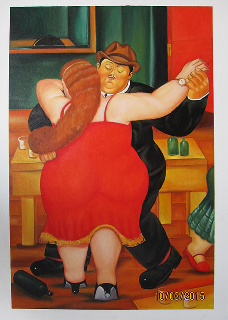 The Dancers - <a href='https://www.reproduction-gallery.com/oil-painting/1469596125/the-dancers-by-fernando-botero/'>More Detail</a>