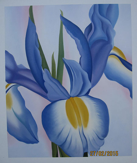 Lavender Iris 1951 - <a href='https://www.reproduction-gallery.com/oil-painting/1340012072/lavender-iris-1951-by-georgia-o-keeffe/'>More Detail</a>