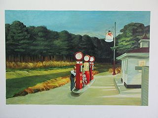 Gas 1940 - <a href='https://www.reproduction-gallery.com/oil-painting/1462511897/gas-1940-by-edward-hopper/'>More Detail</a>