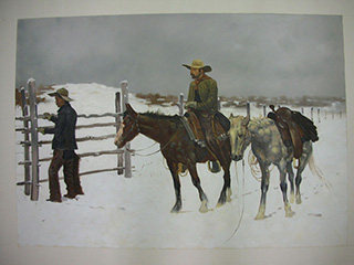 The Fall of the Cowboy - <a href='https://www.reproduction-gallery.com/oil-painting/1026997339/the-fall-of-the-cowboy-by-frederic-remington/'>More Detail</a>