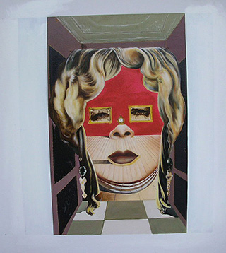 Mae West's Face - <a href='https://www.reproduction-gallery.com/oil-painting/1047953832/mae-west-s-face-which-may-be-used-as-a-surrealist-apartment-1934-1935-by-salvador-dali/'>More Detail</a>