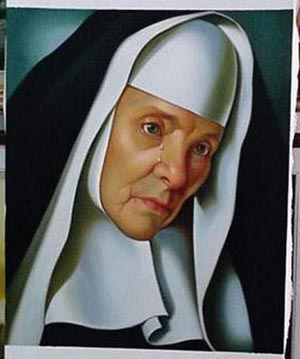 Mother Superior 1935 - <a href='https://www.reproduction-gallery.com/oil-painting/1460018741/mother-superior-1935-by-tamara-de-lempicka/'>More Detail</a>
