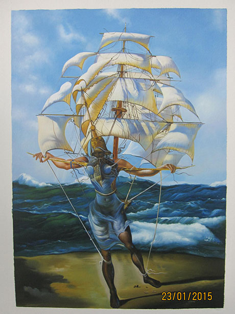 The Ship - <a href='https://www.reproduction-gallery.com/oil-painting/1408532374/the-ship-by-salvador-dali/'>More Detail</a>