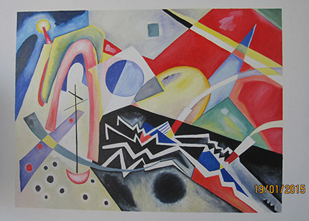 White Zig Zag 1922 - <a href='https://www.reproduction-gallery.com/oil-painting/1408531012/white-zig-zag-1922-by-wassily-kandinsky/'>More Detail</a>