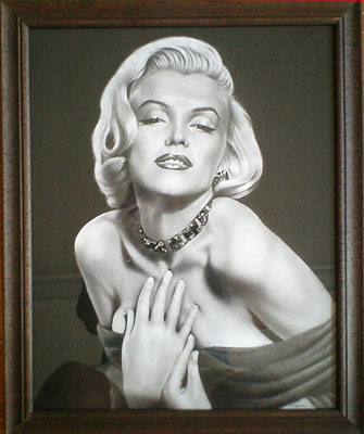 Portrait of Marilyn Monroe donated to Charitable Auction by Dallas Ballet Company - <a href='https://www.reproduction-gallery.com/request-a-portrait/'>More Detail</a>