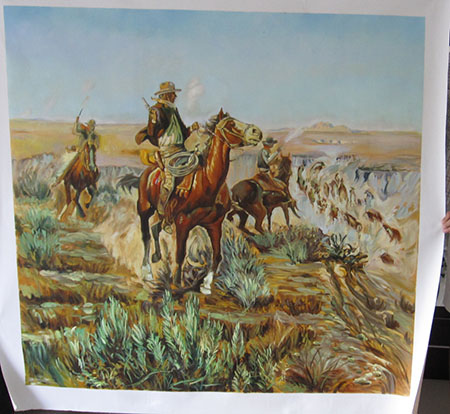 Smokin em Out - <a href='https://www.reproduction-gallery.com/movement/cowboy-western/'>More Detail</a>