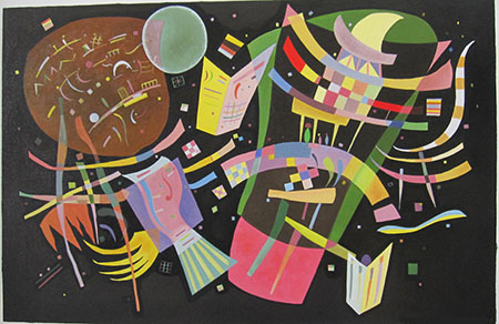Composition X 1939 - <a href='https://www.reproduction-gallery.com/oil-painting/1469599244/composition-x-1939-by-wassily-kandinsky/'>More Detail</a>