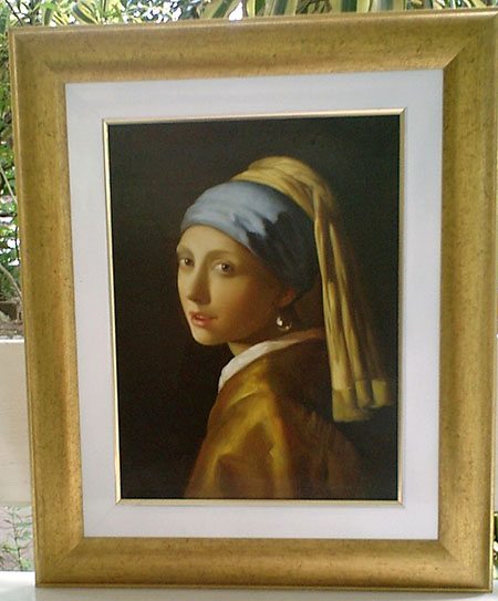 Girl with Pearl Earring c1655 - <a href='https://www.reproduction-gallery.com/oil-painting/1455159075/vermeer-girl-with-pearl-earring-c1655-by-johannes-vermeer/'>More Detail</a>