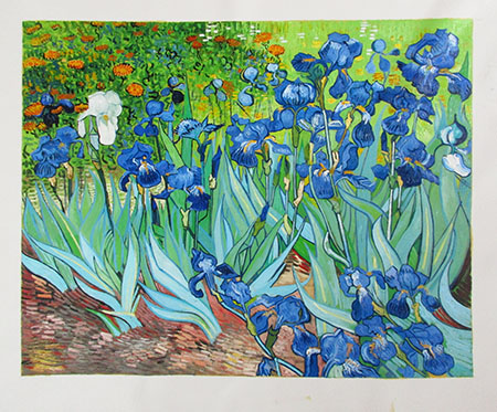 Irises 1889 - <a href='https://www.reproduction-gallery.com/oil-painting/1469602124/irises-1889-by-vincent-van-gogh/'>More Detail</a>