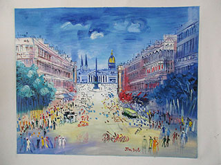 Rue Royale 1950 By Raoul Dufy - <a href='https://www.reproduction-gallery.com/oil-painting/1503999921/rue-royale-1950-by-raoul-dufy/'>More Detail</a>