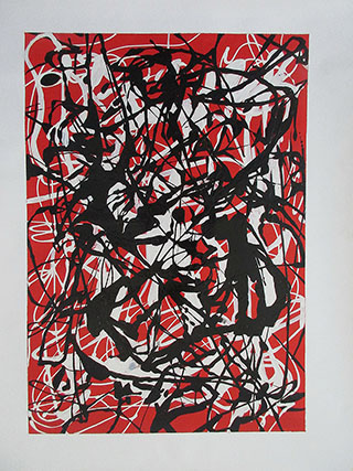 Free Form 1946 2 By Jackson Pollock - <a href='https://www.reproduction-gallery.com/oil-painting/1522221194/free-form-1946-2-by-jackson-pollock/'>More Detail</a>