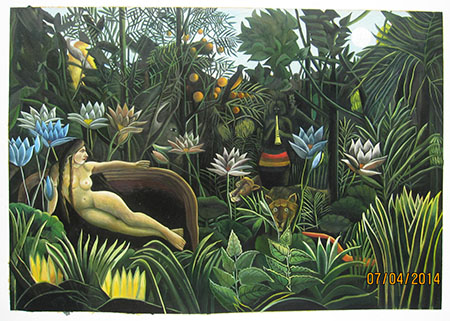 The Dream - <a href='https://www.reproduction-gallery.com/oil-painting/1469604826/the-dream-by-henri-rousseau/'>More Detail</a>