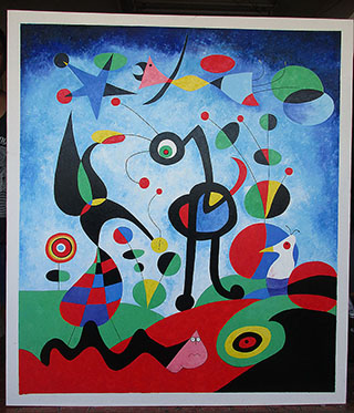 The Garden 1925 By Joan Miro - <a href='https://www.reproduction-gallery.com/oil-painting/1516516020/the-garden-1925-by-joan-miro/'>More Detail</a>
