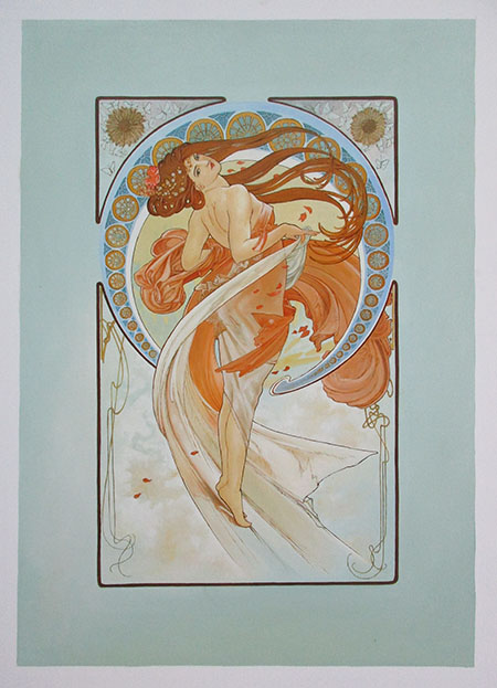 Dance 1898 - <a href='https://www.reproduction-gallery.com/oil-painting/1172455699/dance-1898-by-alphonse-mucha/'>More Detail</a>